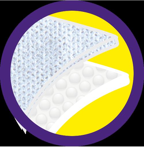 Camada de Absorção + Plástico Bolha